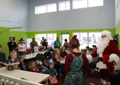 Meeting Santa - Hurland's Kid Christmas Party 2014