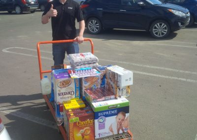 Hurland Staff donating to Fort McMurray fire evacuees