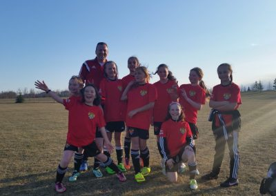 Hurland donated Sherwood Park Soccer U12 Phoenix Girls jerseys, 2016